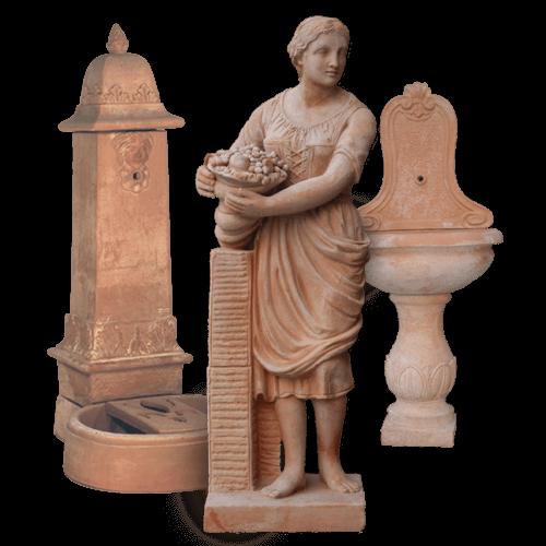 Statues & Fountains – Terra Cotta Pots